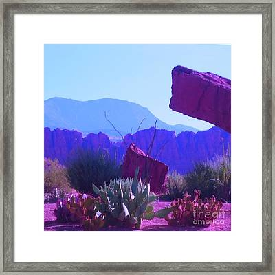 Framed Print featuring the photograph Saint George Rocks by Ann Johndro-Collins
