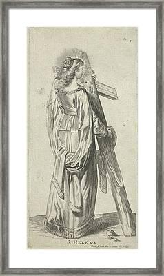 Saint Helena With The True Cross, Print Maker Pieter De Framed Print