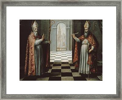 Saint Isidore And Saint Leander Framed Print