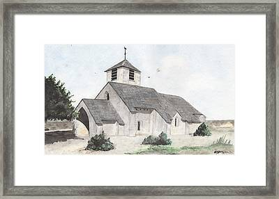 Saint-jean-baptiste A Chassignelles Framed Print by Marc Philippe Joly
