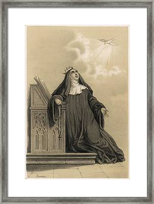Saint Jeanne De Valois Daughter Framed Print