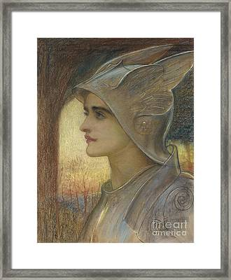 Saint Joan Of Arc Framed Print by Sir William Blake Richomond