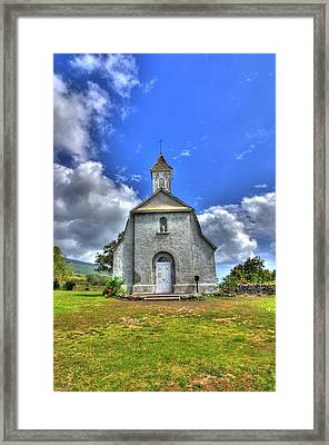 Saint Joeseph's Church Maui  Hawaii Framed Print by Puget  Exposure