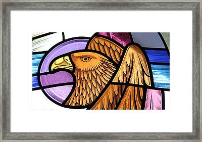 Saint John Eagle  Framed Print by Gilroy Stained Glass