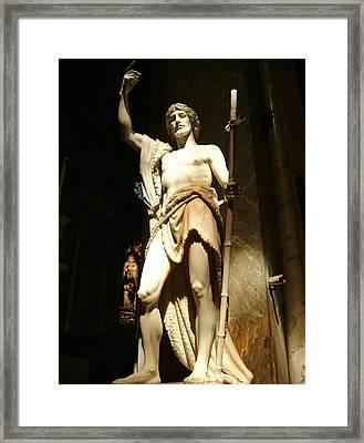 Saint John The Baptist Framed Print by Ellen Henneke