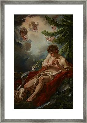 Saint John The Baptist Framed Print by Francois Boucher