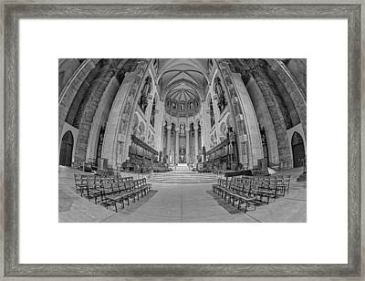 Saint John The Divine Cathedral High Altar  II Bw Framed Print