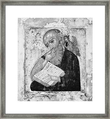 Saint John The Evangelist In Silence Framed Print