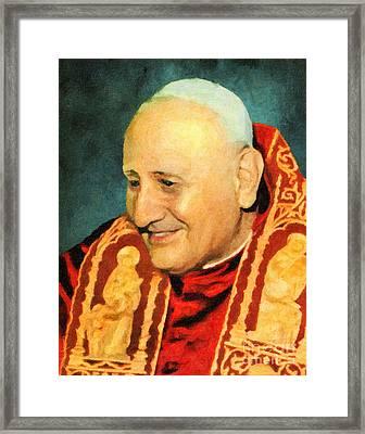 Saint John Xxiii Framed Print