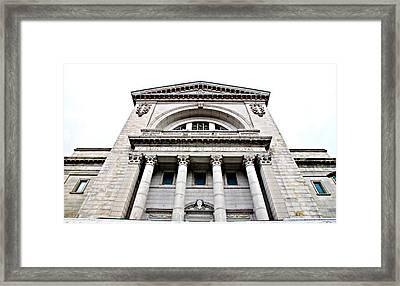 Saint Joseph Du Mont Royal Facade Framed Print by Valentino Visentini