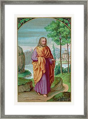 Saint Joseph Husband Of Mary, And Framed Print by Mary Evans Picture Library