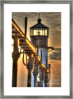 Saint Joseph Lighthouse In Hdr Framed Print by Twenty Two North Photography