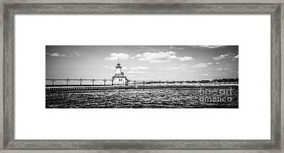 Saint Joseph Lighthouse Retro Panoramic Photo Framed Print