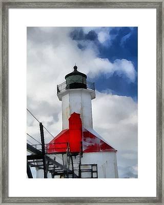 Saint Joseph Michigan Lighthouse Framed Print by Dan Sproul