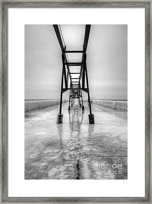 Saint Joseph Michigan Pier Framed Print by Twenty Two North Photography