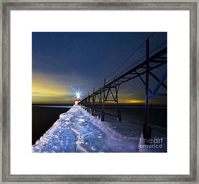 Saint Joseph Pier In Evening Framed Print by Twenty Two North Photography