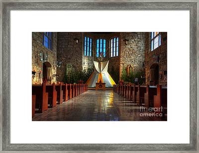 Saint Josephs Apache Mission Framed Print by Bob Christopher