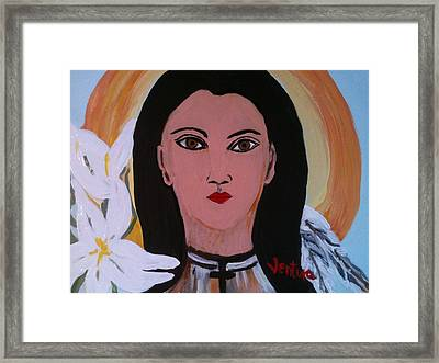 Saint Kateri Takekwitha Framed Print