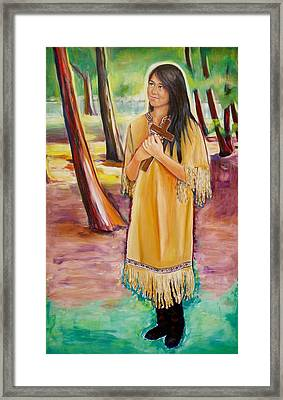 Saint Kateri Tekakwitha Version One Framed Print by Sheila Diemert