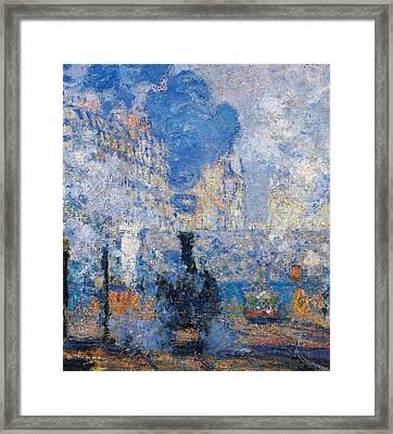 Saint Lazare Station Framed Print