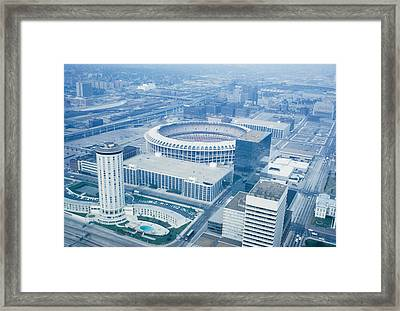 Framed Print featuring the photograph Saint Louis Ball Park by John Mathews
