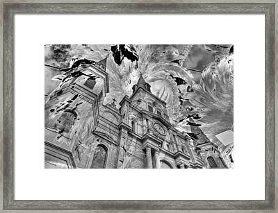 Framed Print featuring the photograph Saint Louis Cathedral And Spirits by Ron White
