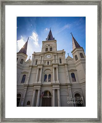 Saint Louis Cathedral Entrance Framed Print by Inge Johnsson