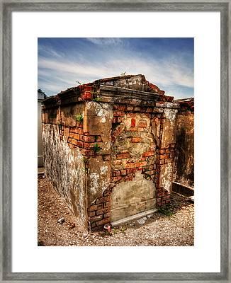 Saint Louis Cemetery No. 1 Brick Grave Framed Print