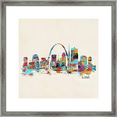 Saint Louis Missouri Skyline Framed Print