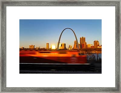 Saint Louis Morning Train Framed Print by David Yunker