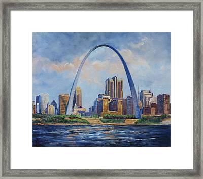 Saint Louis Skyline 2 Framed Print by Irek Szelag