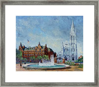 Saint Louis University And College Church Framed Print