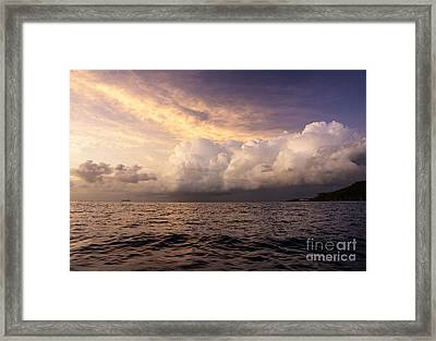 Saint Lucian Sunset Framed Print