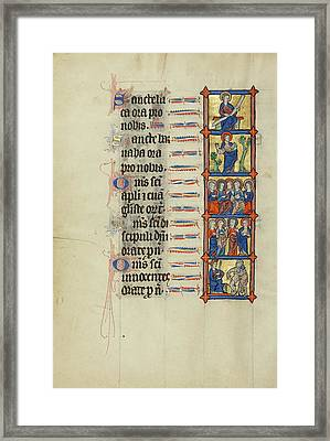 Saint Luke Enthroned,  Saint Barnabas With A Book,  Five Framed Print