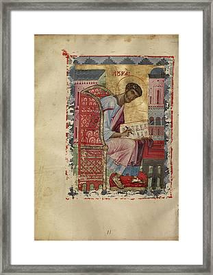 Saint Luke Unknown Byzantine Empire Early 13th Century - Framed Print