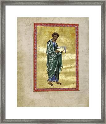 Saint Luke Unknown Constantinople, Turkey Framed Print