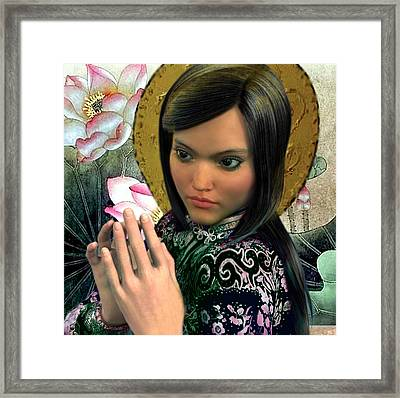 Framed Print featuring the painting Saint Magdalene Of Nagasaki by Suzanne Silvir