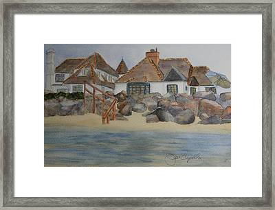 Saint Malo Beach House Framed Print