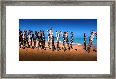 Saint Malo Beach Framed Print by Martin Velebil