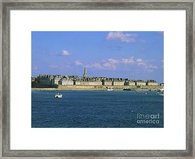 Saint Malo. Ille Et Vilaine. Brittany. Bretagne. France. Europe Framed Print by Bernard Jaubert