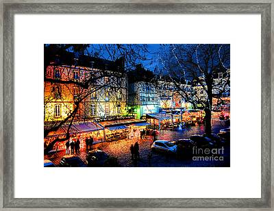 Saint Malo Night Framed Print by Olivier Le Queinec