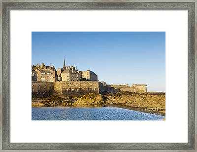 Saint Malo St-malo Brittany France Ramparts Town Beach Framed Print by Colin and Linda McKie