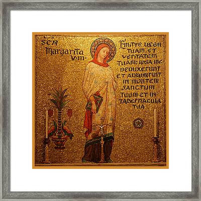 Saint Margaret Altar Framed Print by Philip Ralley