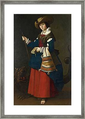 Saint Margaret Of Antioch Framed Print by Francisco de Zurbaran