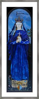 Saint Margaret Of Scotland Framed Print
