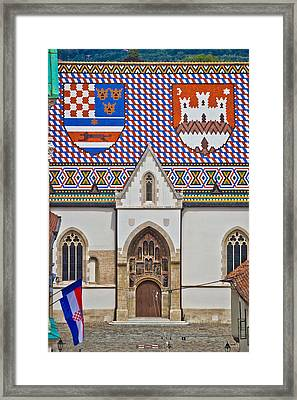 Saint Mark Church Facade Vertical View Framed Print