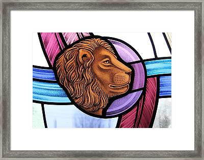 Saint Mark Lion Framed Print by Gilroy Stained Glass