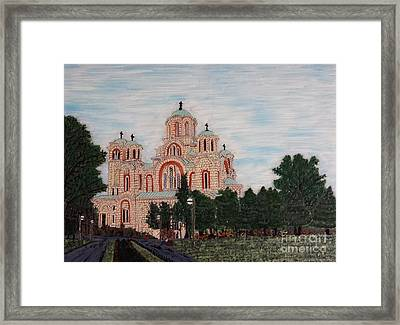 Saint Marko Church  Belgrade  Serbia  Framed Print