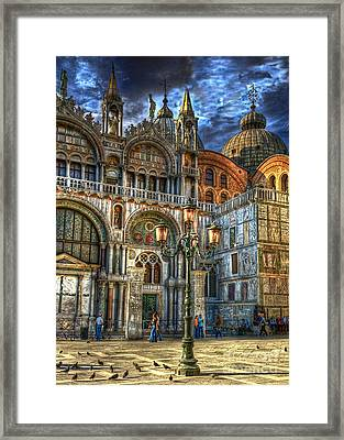 Saint Marks Square Framed Print by Jerry Fornarotto