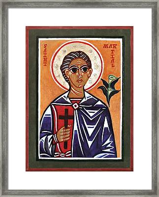 Saint Martial Framed Print by Marcelle Bartolo-Abela
